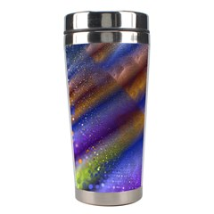 Fractal Color Stripes Stainless Steel Travel Tumblers
