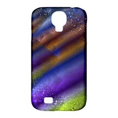 Fractal Color Stripes Samsung Galaxy S4 Classic Hardshell Case (PC+Silicone)