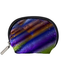 Fractal Color Stripes Accessory Pouches (Small)