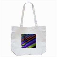 Fractal Color Stripes Tote Bag (white)