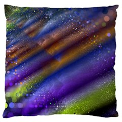 Fractal Color Stripes Large Flano Cushion Case (Two Sides)