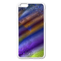 Fractal Color Stripes Apple iPhone 6 Plus/6S Plus Enamel White Case