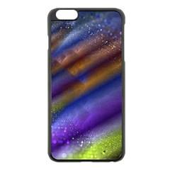 Fractal Color Stripes Apple Iphone 6 Plus/6s Plus Black Enamel Case