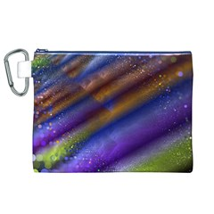 Fractal Color Stripes Canvas Cosmetic Bag (XL)