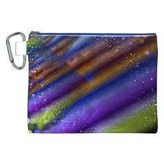 Fractal Color Stripes Canvas Cosmetic Bag (xxl)