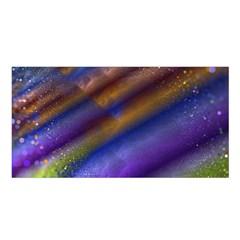 Fractal Color Stripes Satin Shawl