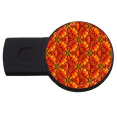 Background Flower Fractal USB Flash Drive Round (1 GB)