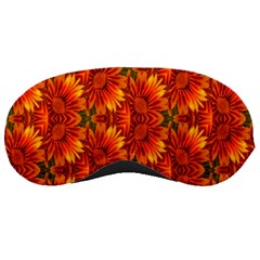 Background Flower Fractal Sleeping Masks