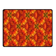 Background Flower Fractal Fleece Blanket (small)