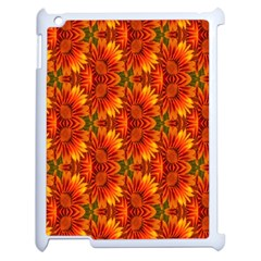Background Flower Fractal Apple iPad 2 Case (White)