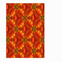 Background Flower Fractal Large Garden Flag (Two Sides)