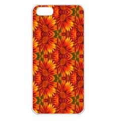 Background Flower Fractal Apple iPhone 5 Seamless Case (White)