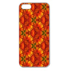 Background Flower Fractal Apple Seamless iPhone 5 Case (Clear)