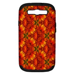 Background Flower Fractal Samsung Galaxy S III Hardshell Case (PC+Silicone)