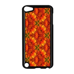 Background Flower Fractal Apple Ipod Touch 5 Case (black)
