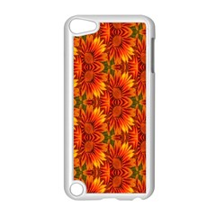 Background Flower Fractal Apple Ipod Touch 5 Case (white)