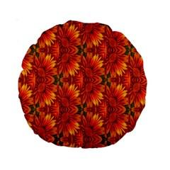 Background Flower Fractal Standard 15  Premium Round Cushions