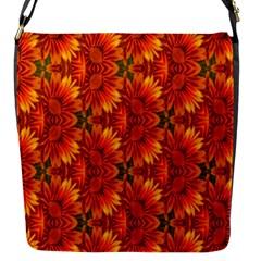 Background Flower Fractal Flap Messenger Bag (S)