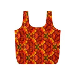 Background Flower Fractal Full Print Recycle Bags (S)