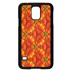 Background Flower Fractal Samsung Galaxy S5 Case (Black)