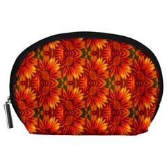 Background Flower Fractal Accessory Pouches (Large)
