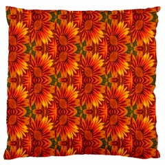 Background Flower Fractal Large Flano Cushion Case (Two Sides)