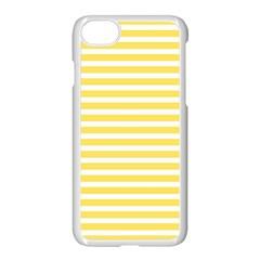 Horizontal Stripes Yellow Apple Iphone 7 Seamless Case (white)