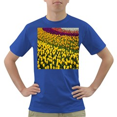 Colorful Tulips In Keukenhof Gardens Wallpaper Dark T Shirt
