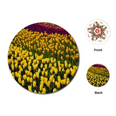 Colorful Tulips In Keukenhof Gardens Wallpaper Playing Cards (round)