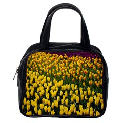 Colorful Tulips In Keukenhof Gardens Wallpaper Classic Handbags (one Side)