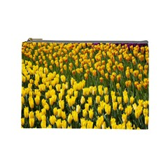 Colorful Tulips In Keukenhof Gardens Wallpaper Cosmetic Bag (large)