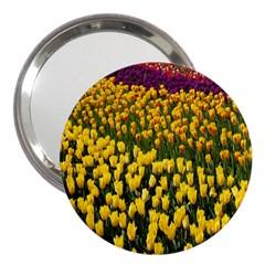 Colorful Tulips In Keukenhof Gardens Wallpaper 3  Handbag Mirrors