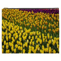 Colorful Tulips In Keukenhof Gardens Wallpaper Cosmetic Bag (XXXL)