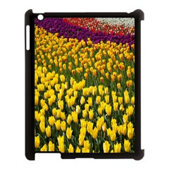 Colorful Tulips In Keukenhof Gardens Wallpaper Apple iPad 3/4 Case (Black)