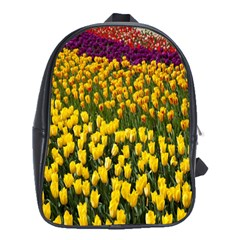 Colorful Tulips In Keukenhof Gardens Wallpaper School Bags (XL)