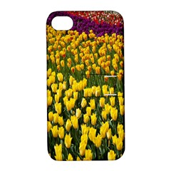Colorful Tulips In Keukenhof Gardens Wallpaper Apple iPhone 4/4S Hardshell Case with Stand
