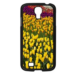 Colorful Tulips In Keukenhof Gardens Wallpaper Samsung Galaxy S4 I9500/ I9505 Case (Black)