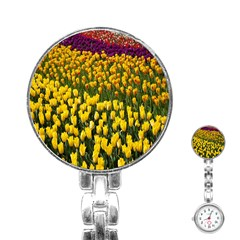 Colorful Tulips In Keukenhof Gardens Wallpaper Stainless Steel Nurses Watch