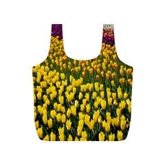 Colorful Tulips In Keukenhof Gardens Wallpaper Full Print Recycle Bags (S)