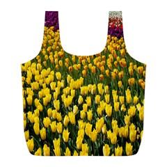Colorful Tulips In Keukenhof Gardens Wallpaper Full Print Recycle Bags (l)