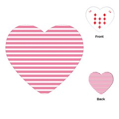 Horizontal Stripes Light Pink Playing Cards (heart)
