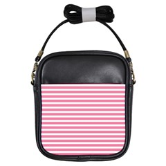 Horizontal Stripes Light Pink Girls Sling Bags