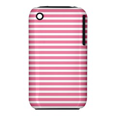 Horizontal Stripes Light Pink Iphone 3s/3gs