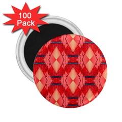 Orange Fractal Background 2 25  Magnets (100 Pack)