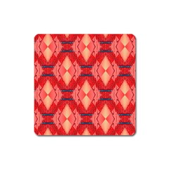 Orange Fractal Background Square Magnet