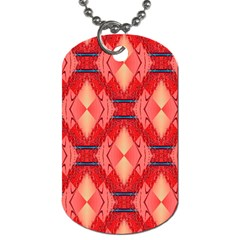 Orange Fractal Background Dog Tag (one Side)