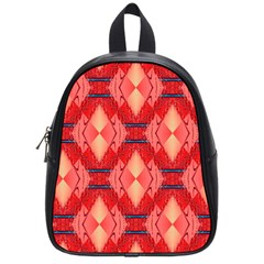 Orange Fractal Background School Bags (small)