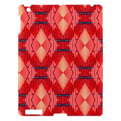 Orange Fractal Background Apple iPad 3/4 Hardshell Case
