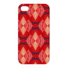 Orange Fractal Background Apple iPhone 4/4S Premium Hardshell Case
