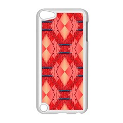 Orange Fractal Background Apple iPod Touch 5 Case (White)